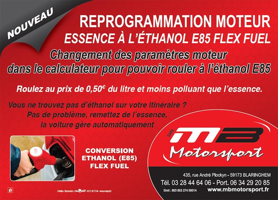 Conversion voiture essence vers ethanol 85 sans boitier